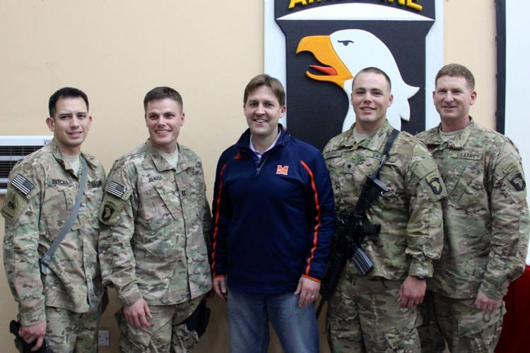 Sasse Visits Troops In Middle East
