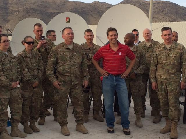 Sasse Celebrates 4th of July with Troops in Afghanistan